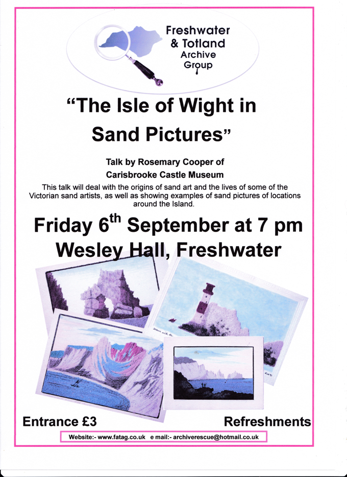 Sand Pictures Friday 6th 7pm  Wesley Hall
