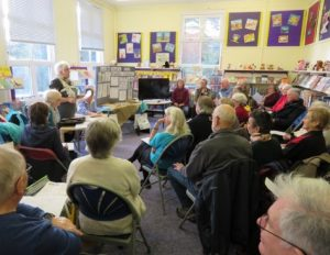 Freshwater & Totland Archive Group AGM Monday February 5th at Freshwater Library. There was a good attendance at the meeting - around 40 people crammed into the Children's Library room!